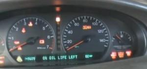Reset oil service light indicator Cadillac DeVille