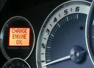 Reset oil service light indicator Cadillac Escalade