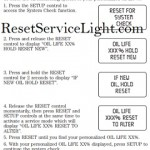 Reset oil service light Ford Freestar, 2004-2012