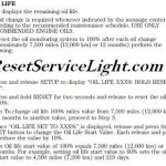 Reset oil service light Ford Taurus, year 2010