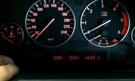 Reset service light indicator BMW X%, END SIA