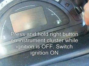 Reset service light indicator Citroen C3