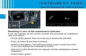 Reset service light indicator Citroen C5