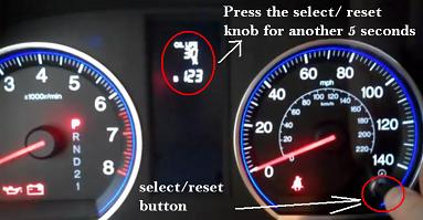 Reset maintenance oil life service light Honda CR-V