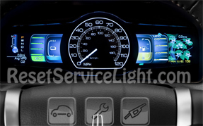 Reset oil life highlighted Lincoln MKZ Hybrid