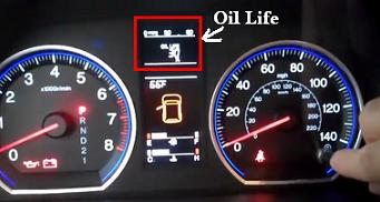Reset oil life service light Honda CR-V