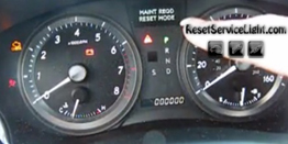 Reset oil maintenance required Lexus ES 350 year 2007