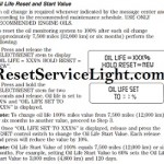 Reset oil service light Ford F 350SD Series