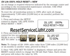 Reset Oil Service Light Ford F  Series
