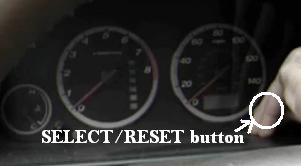 Reset oil service light Honda CR-V, 2002 - 2006