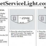 Reset oil service light Honda Element