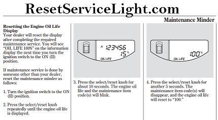 reset oil service light honda element reset service light reset oil life maintenance light reset