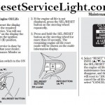 Reset oil service light Honda Insight
