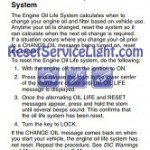 Reset oil service light Hummer H3