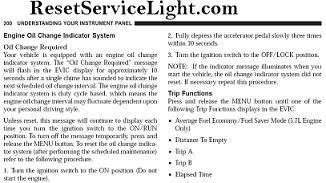 Reset Oil Service Light Jeep Commander Reset Service