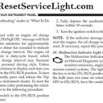 Reset oil service light Jeep Compass