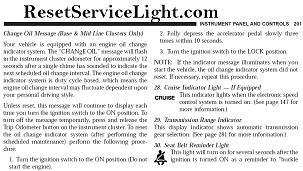 Reset Oil Service Light Jeep Liberty Reset Service Light