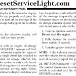 Reset oil service light Jeep Patriot