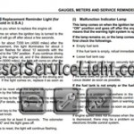 Reset oil service light Lexus ES Series manual 2004-2006