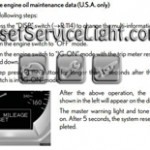 Reset oil service light Lexus GS 350 manual 2007