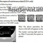 Reset oil service light Lexus GS 450h manual 2007-2012