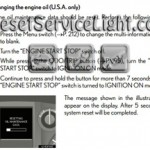 Reset oil service light Lexus GX 460 manual 2010-2012