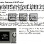 Reset oil service light Lexus GX 460 manual 2010-2012