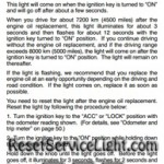 Reset oil service light Lexus GX 470 manual 2003-2006