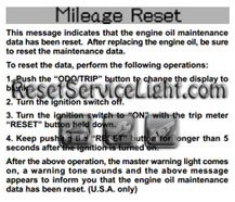 Reset oil service light Lexus LS 430 – Reset service light, reset