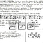 Reset oil service light Lincoln Town Car manual 2006-2011