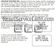 Reset oil service light Lincoln Town Car – Reset service