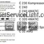 Reset oil service light Mercedes C 220 2003