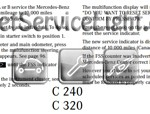 Reset oil service light Mercedes C CLass 2001