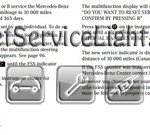 Reset oil service light Mercedes E Class manual 2001-2002