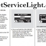 Reset service light indicator Honda Pilot