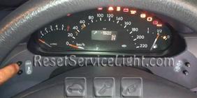 Reset service light indicator Mercedes A Class