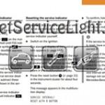 Reset service light indicator Mercedes CL CLass manual 2000-2003
