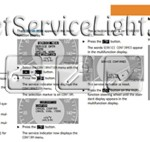 Reset service light indicator Mercedes E 200 Kompressor manual 2003-2004