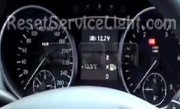 Reset service light indicator Mercedes ML350 4Matic