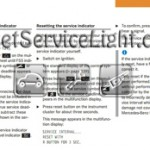 Reset service light indicator Mercedes S400 CDI manual