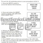 Reset oil monitoring system Mercury Monterey