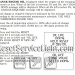 Reset oil service light Mercury Grand Marquis manual