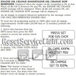 Reset oil service light Mercury Mariner Hybrid manual 2007