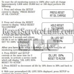 Reset oil service light Mercury Mountaineer manual 2004-2005