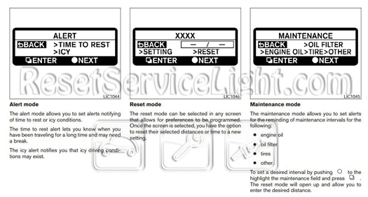 Reset oil service light Nissan Altima Facelift – Reset