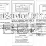 Reset oil service light Nissan Altima manual 2005-2006
