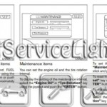 Reset oil service light Nissan Armada manual 2004-2007