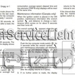 Reset oil service light Nissan Cube manual 2009-2012