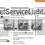 Reset service light indicator Mercedes CL Class W215 manual