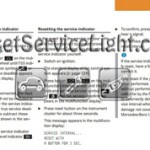 Reset service light indicator Mercedes CL Class W215 manual 2004